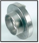 "25 mm solid coupling 1"" - male"